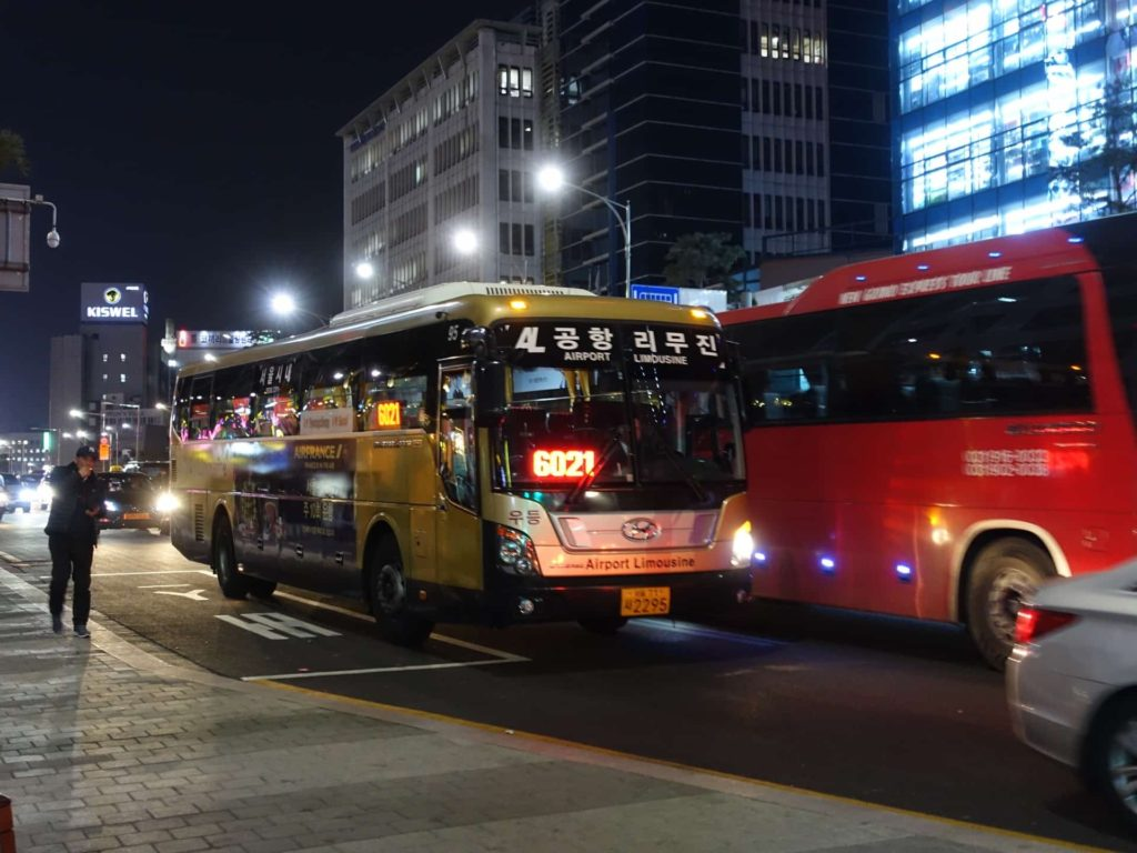 金浦空港 明洞 バス リムジンバス 空港バス 乗り方 6001 6015 6021