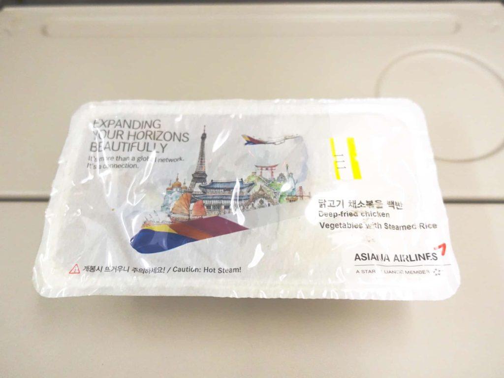 アシアナ 機内食 アシアナ航空 2018 関空 金浦 関西国際空港 金浦空港
