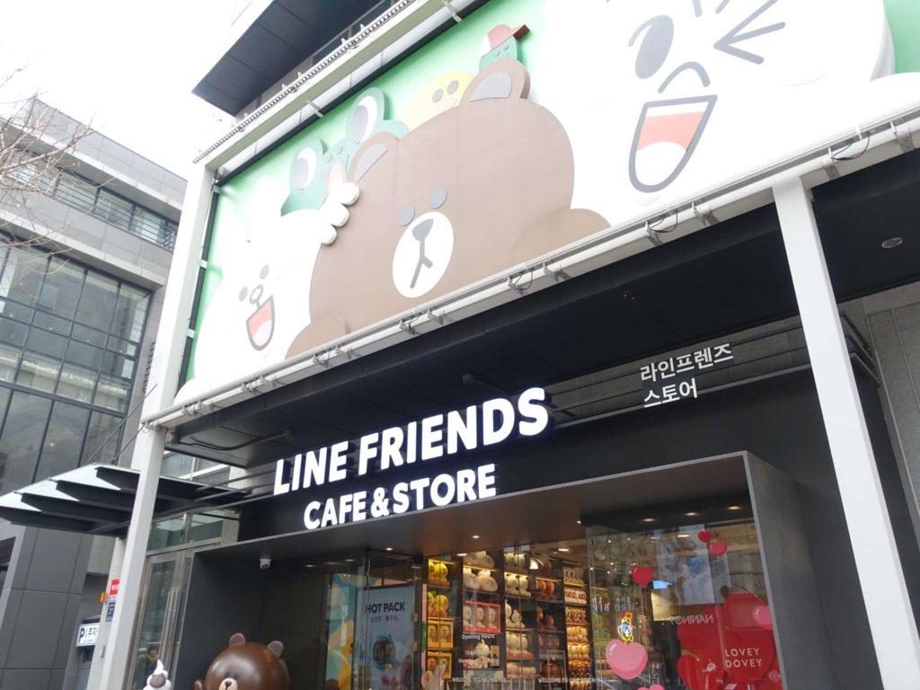 韓国 ラインフレンズストア 店舗 場所 BT21