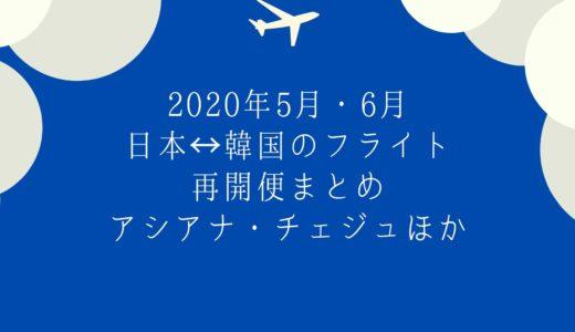 【2020年5月・6月】日韓路線フライト情報|アシアナ航空・チェジュ航空・ジンエアー